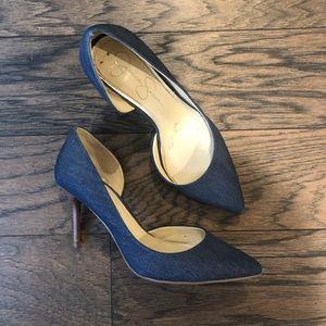 Jessica Simpson Denim Blue Heels